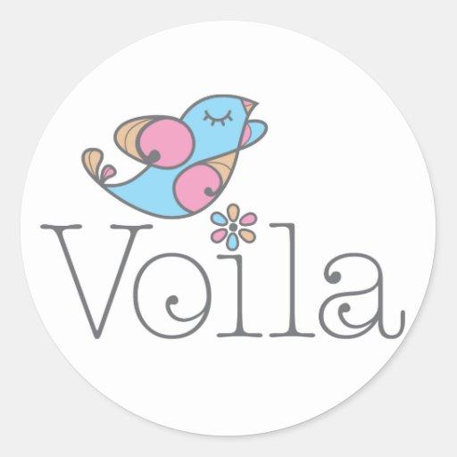 Voilá Apparel & Gifts (original) Round Stickers