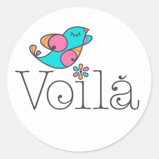 Voilá Original Round Stickers