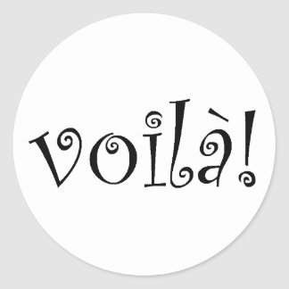 Voila Round Sticker