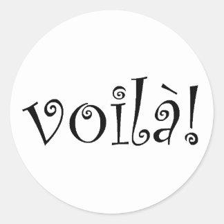 Voila Round Sticker
