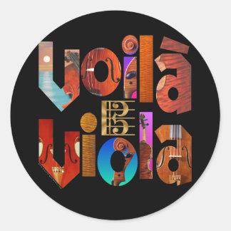 Voilà Viola! Round Sticker
