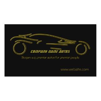 Voiture d'Autotrade - or Sportscar sur le modèle Carte De Visite Standard