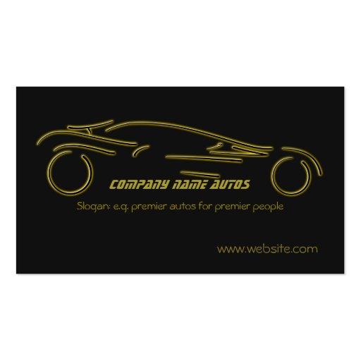 Voiture d'Autotrade - or Sportscar sur le modèle Modèles De Cartes De Visite