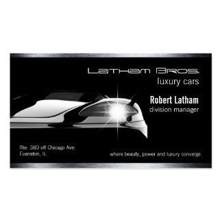 voiture de luxe noire lisse d'affaires de voiture carte de visite