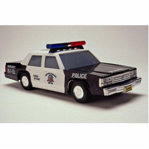 voiture de police noire et blanche photo sculpture zazzle. Black Bedroom Furniture Sets. Home Design Ideas
