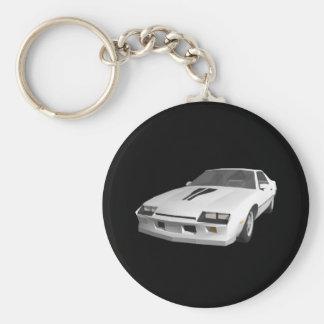 voiture de sport de 80s Camaro : modèle 3D : Porte Porte-clé Rond