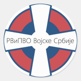 Vojska Srbije RV i PVO Classic Round Sticker