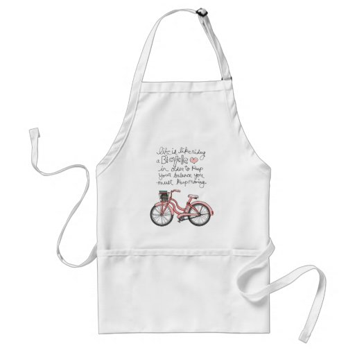 vol25 life is like riding a bicycle adult apron