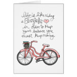 vol25 life is like riding a bicycle greeting card