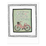 vol25- life is like riding a bicyle postcards