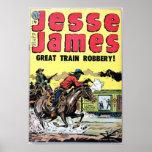 Vol de train de Jesse James Affiche