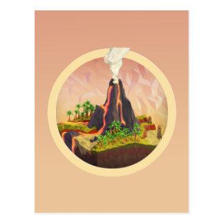 Volcanic Island Seal Postcard