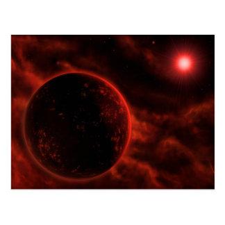 Volcanic Planet Postcard