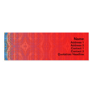 Volcanic Rock Formation Seamless Illusion Double-Sided Mini Business Cards (Pack Of 20)