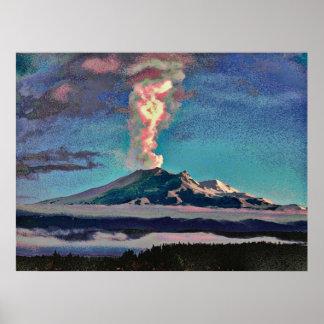 Volcano 11 cmyk poster