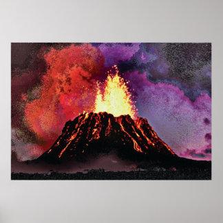 Volcano 9 cmyk poster