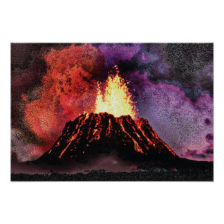 Volcano 9 special cmyk poster