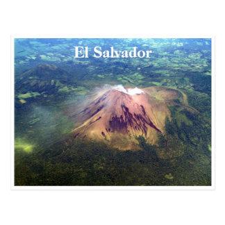 volcano aerial el sal postcard