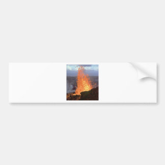 volcano blast of lava bumper sticker