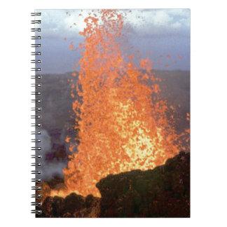 volcano blast of lava notebook