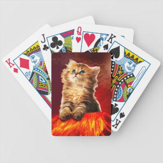 volcano cat ,vulcan cat , bicycle playing cards