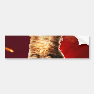 volcano cat ,vulcan cat , bumper sticker