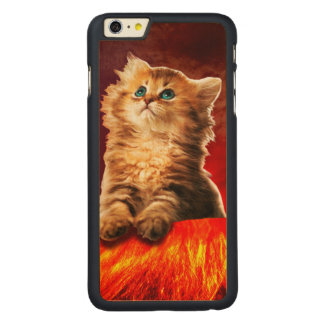 volcano cat ,vulcan cat , carved maple iPhone 6 plus case