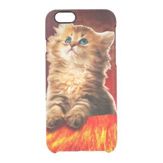 volcano cat ,vulcan cat , clear iPhone 6/6S case
