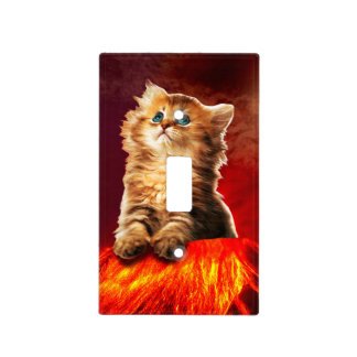 volcano cat ,vulcan cat , light switch cover