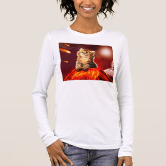 volcano cat ,vulcan cat , long sleeve T-Shirt
