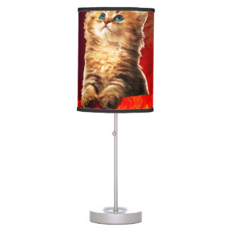 volcano cat ,vulcan cat , table lamp