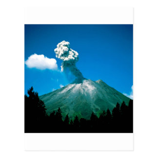Volcano Erupting Costa Rica Postcard