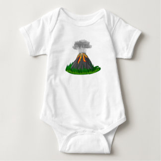 volcano eruption and fire baby bodysuit