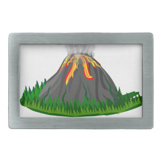 volcano eruption and fire belt buckles