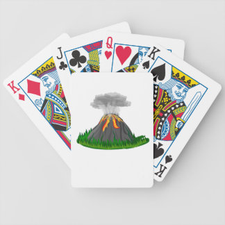 volcano eruption and fire bicycle playing cards