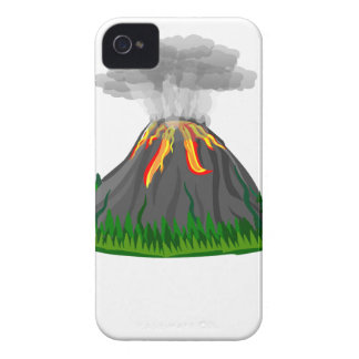 volcano eruption and fire iPhone 4 case