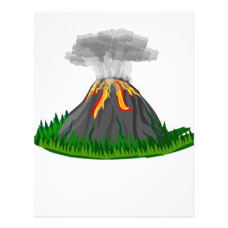 volcano eruption and fire letterhead
