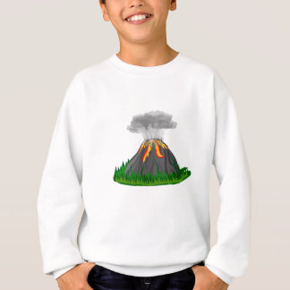 volcano eruption and fire sweatshirt