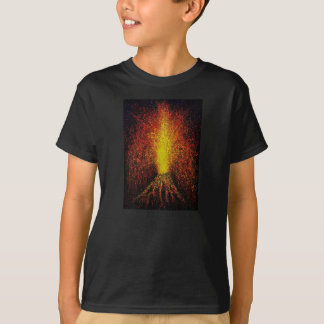 Volcano Eruption Kids' Basic T-Shirt, Black T-Shirt