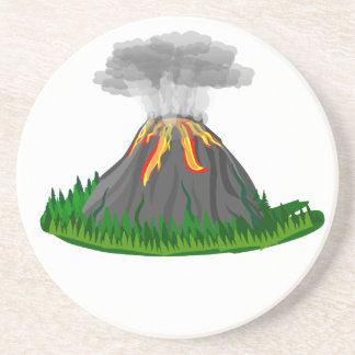volcano fire eruption coaster