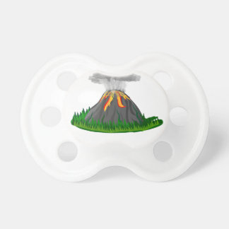 volcano fire eruption pacifier