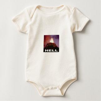 volcano hell baby bodysuit