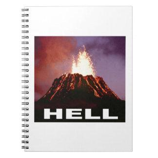 volcano hell spiral notebook