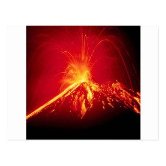 Volcano Hot Lava 1991 Costa Rica Postcard