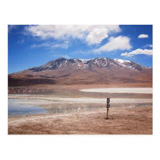 Volcano in an Altiplano landscape postcard