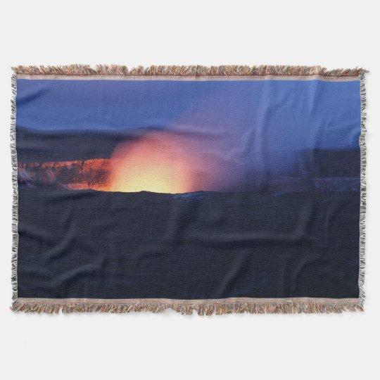 Volcano in Hawaii Throw Blanket