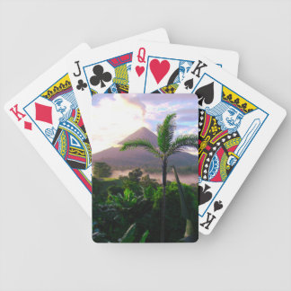 Volcano In The Tropics Bicycle Playing Cards