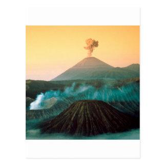 Volcano Indonesian Eruption Postcard