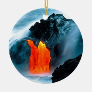 Volcano Lava Flow From Kilauea Hawaii Ceramic Ornament
