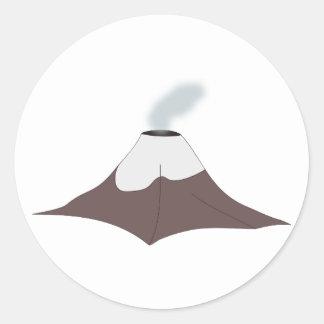 Volcano volcano classic round sticker